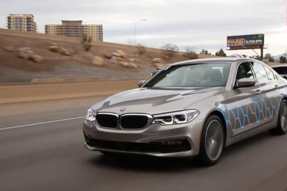 视频:全新宝马5系自动驾驶原型车