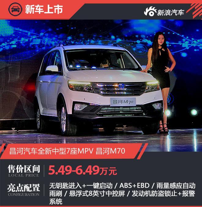 北汽昌河M70正式上市 售价5.49-6.49万