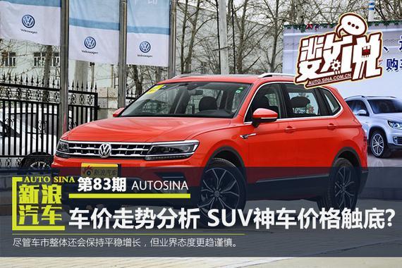 数说|最新车价走势分析:SUV神车价格触底