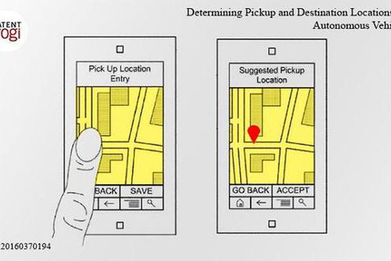 谷歌无人车专利曝光:可挑选最佳上下客地点