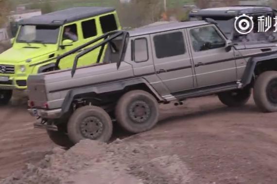 视频:巴博斯700G 6X6让奔驰G63 6X6汗颜
