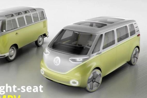 视频:大众新IDBuzz概念车发布 致敬T1