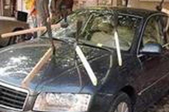 车主为了省停车费停在冰面上,结果。。。