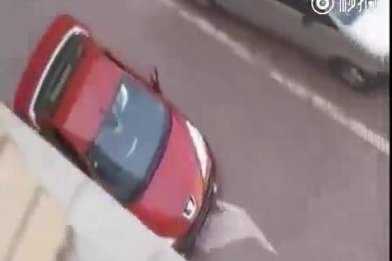 视频:抢车位:标志女司机 vs 奥拓男司机