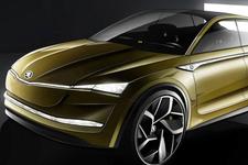 斯柯达概念SUV设计草图发布