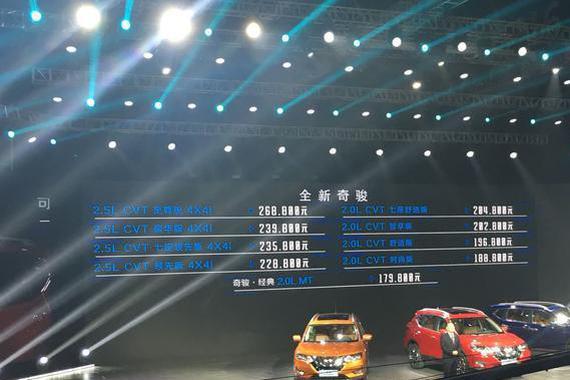全新日产奇骏 比CR-V先推出7座版本