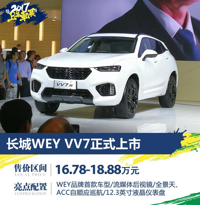 WEY VV7车展上市 售价16.78-18.88万元