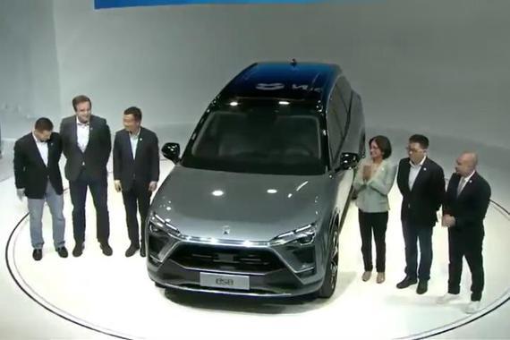 视频:蔚来新车亮相上海车展 ES8车型首发