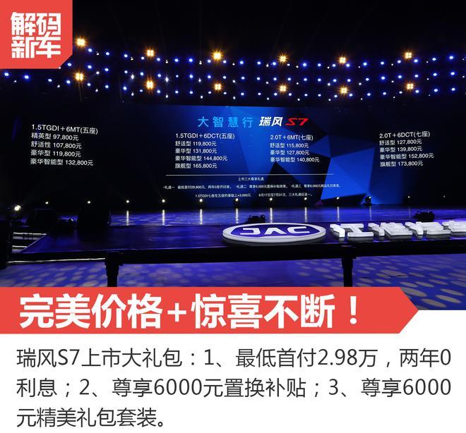 解码新车:江淮旗舰SUV瑞风S7到底怎么样?