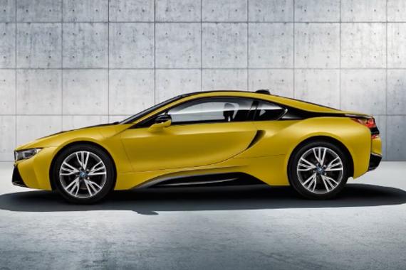 黄的好好看 宝马i8特别版车型