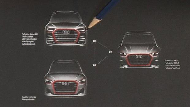 全新奥迪A6谍照再曝光 与全新A8相似的贯穿式尾灯