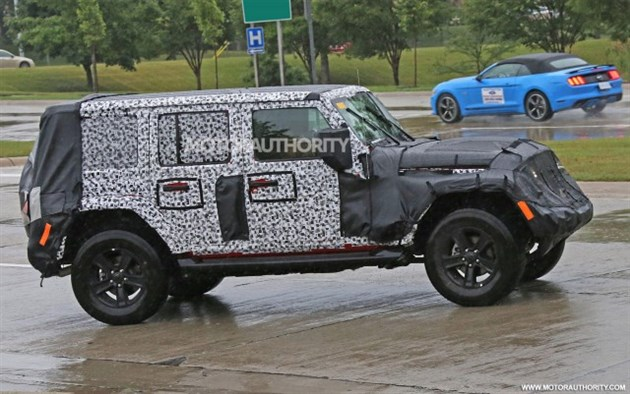 Jeep全新牧马人四门版谍照 有望11月亮相