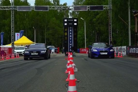 直线加速 奥迪RS7 VS 宝马M6