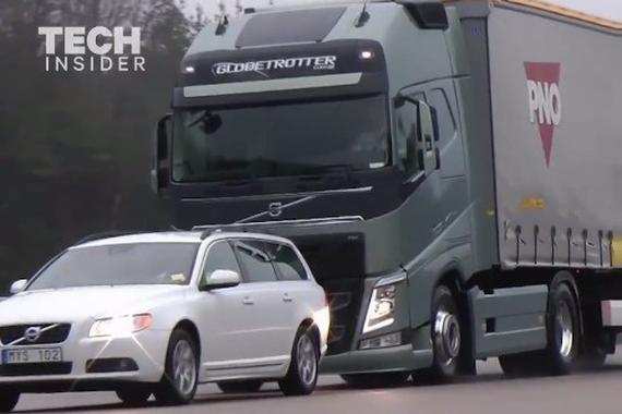 视频:这些沃尔沃卡车可以自动停车避障