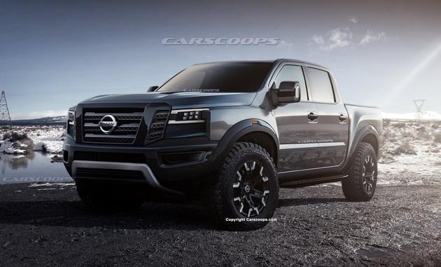 日产全新Frontier渲染图曝光 定位皮卡车型/或2021年亮相