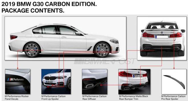 更具运动范儿 宝马5系推出碳纤维套件