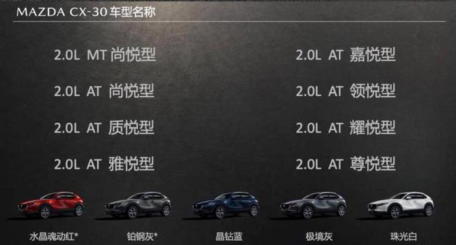 长安马自达CX-30将于5月28日上市 预售12.99万元起