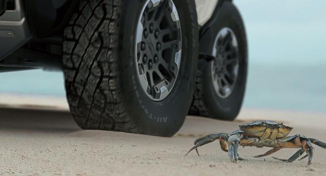 新增螃蟹模式 悍马电动皮卡下周全球首发
