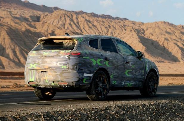 延续概念车设计 腾势全新7座SUV谍照曝光