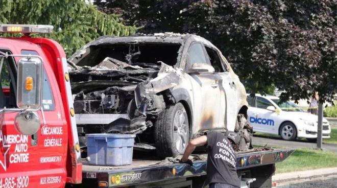 现代纯电动车Kona在加拿大一车库起火爆炸
