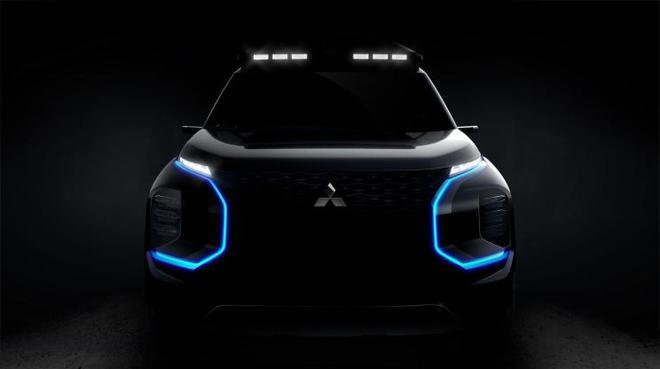 曝三菱全新概念SUV预告图 日内瓦车展发布
