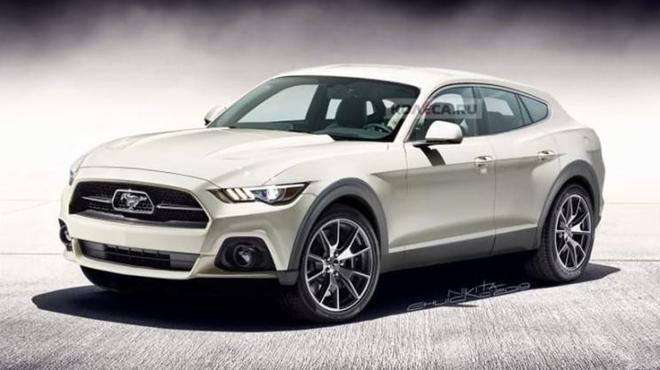 福特纯电Mustang SUV衬着图暴光