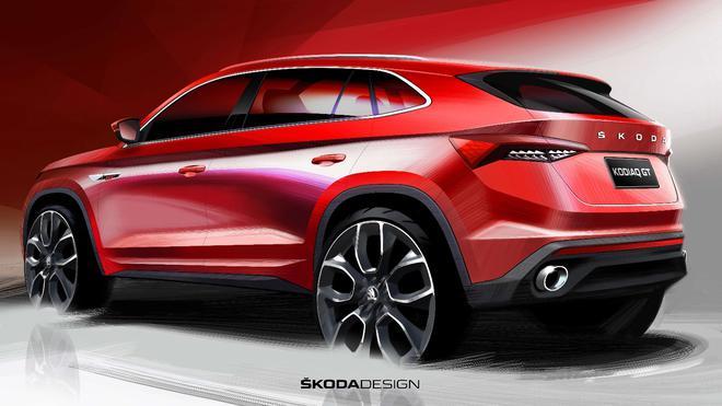 斯柯达柯迪亚克GT设计草图曝光 搭载2.0T动力