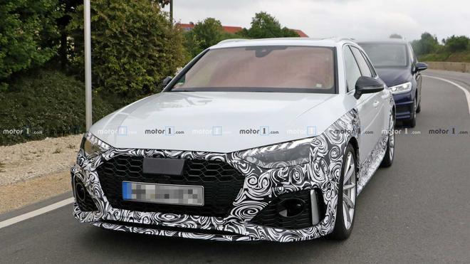 2020款奥迪RS4 Avant改款谍照 法兰克福首发