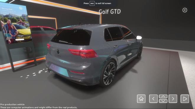 大众虚拟现实技术还原2020年日内瓦车展全貌 真正的网上车展