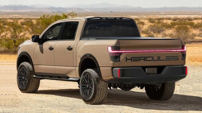 美国Hercules Alpha纯电动皮卡曝光 透出浓烈的PPT公司感