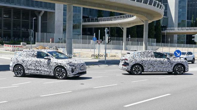 奥迪Q4 E-Tron两台原型车同步测试 续航里程或超450公里