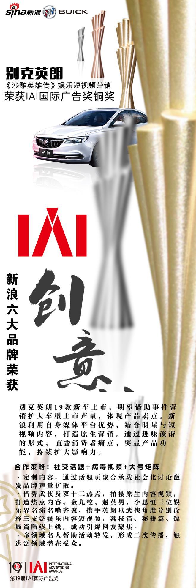 创意凶猛IAI:从新浪六大品牌获项看广告营销变局