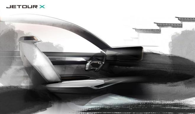 捷途JETOUR X内饰预告图 上海车展发布