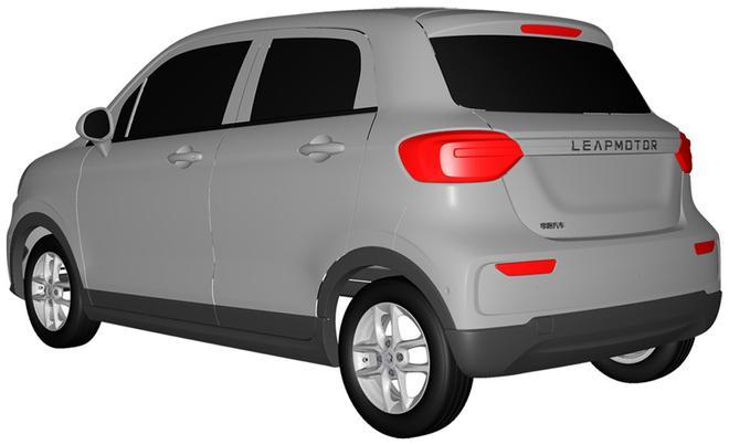 零跑第二款车型T03专利图 2020年正式上市