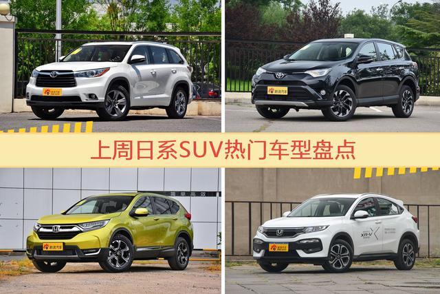 日系SUV车型中 一汽丰田汉兰达关注度最高