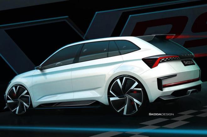 斯柯达VISION RS预告图发布 巴黎车展首发