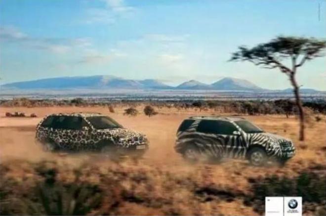 COS猎豹的BMW X5在追逐COS斑马的奔驰M级。