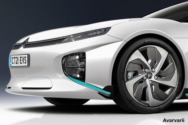 全新旗舰 雪铁龙纯电动大型车渲染图