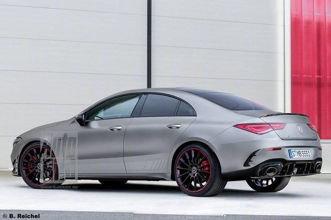 全新奔驰AMG CLA实车图曝光 将于年内发布