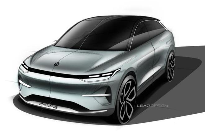 上海车展亮相 零跑C平台概念车设计图