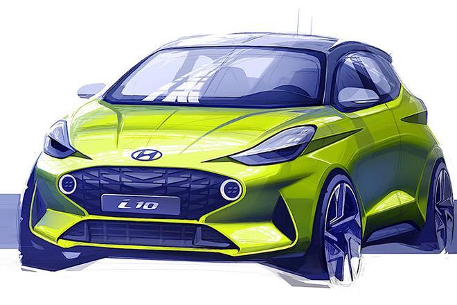 新一代现代i10设计草图曝光 法兰克福车展首发