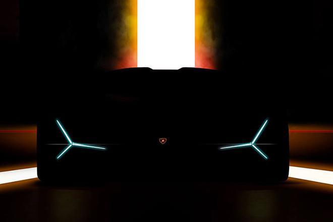 兰博基尼全新混动超跑预告图 法兰克福车展首发