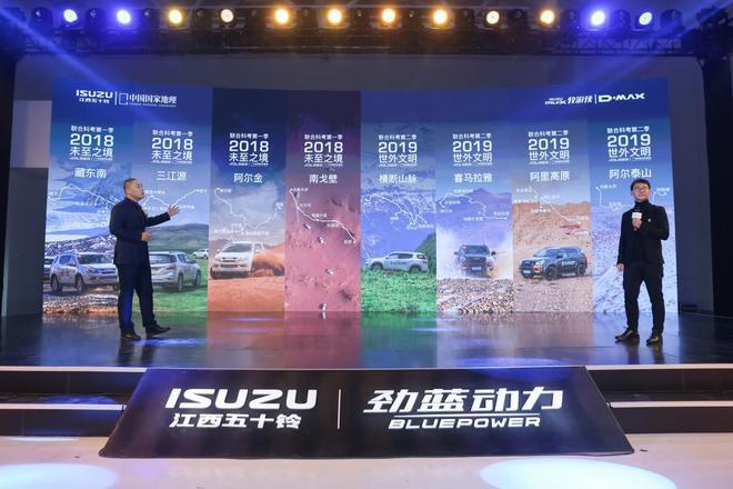 左:江西五十铃汽车销售服务有限公司SUV品牌部经理 黄浩 右:《中国国家地理》杂志社科考部主任 陈辉