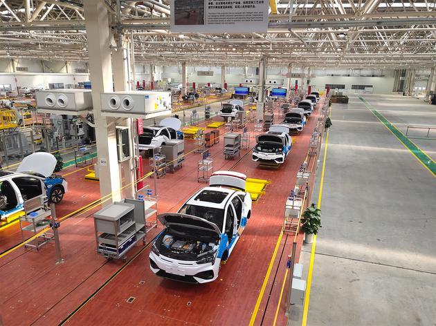 一期年产能20万辆 广汽新能源智能生态工厂竣工