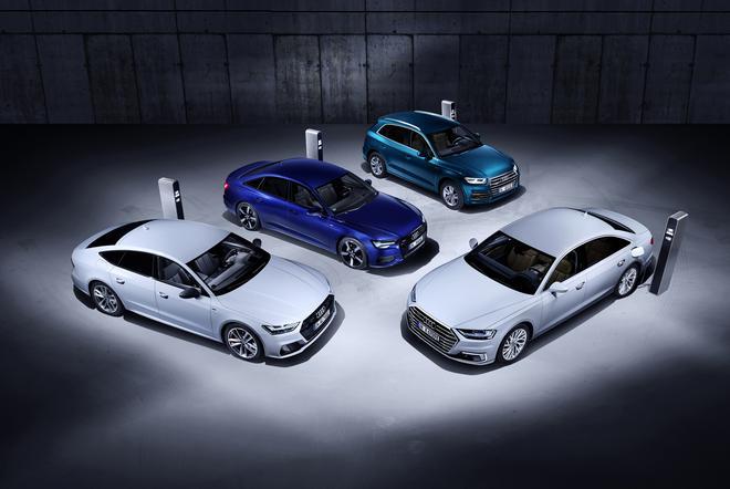 奥迪4款插电混动版车型官图 日内瓦车展亮相
