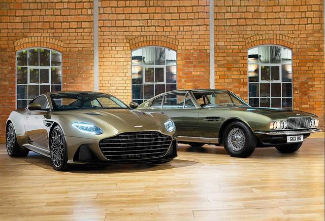 右侧为1969款阿斯顿·马丁DBS Superleggera