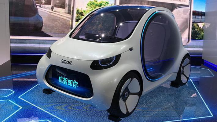 smart Vision EQ fortwo全新概念车在国内亮相
