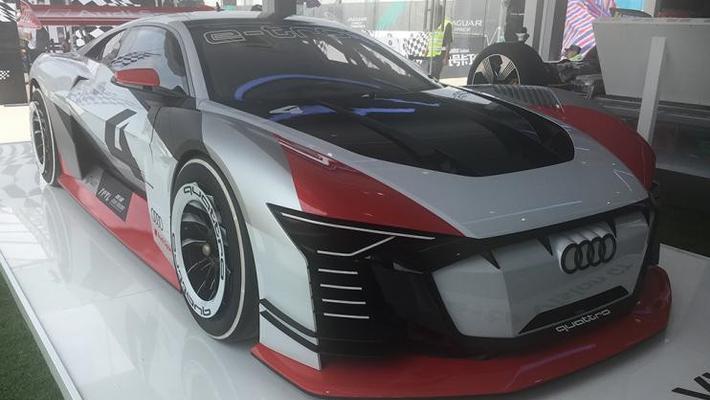 奥迪e-tron Vision GT概念车国内首次亮相