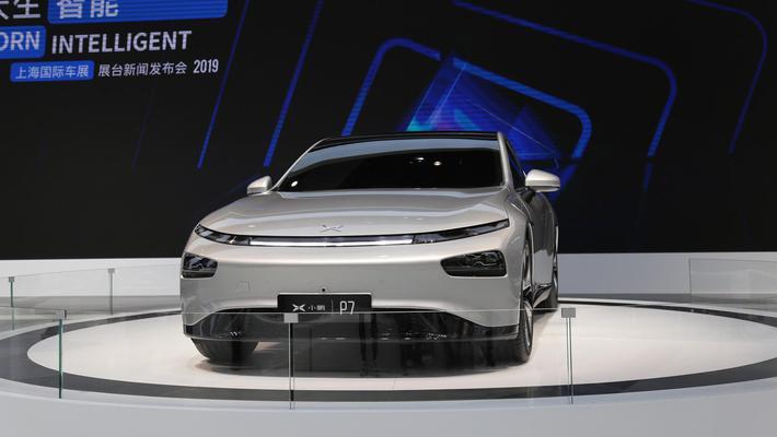 小鹏首款轿跑P7上海车展首发亮相