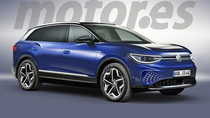 大众首款纯电SUV假想图 续航550km/明年上市